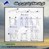 تمرینات عضلات پشت بدن در خانه
