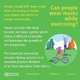 پوشیدن ماسک هنگام ورزش
